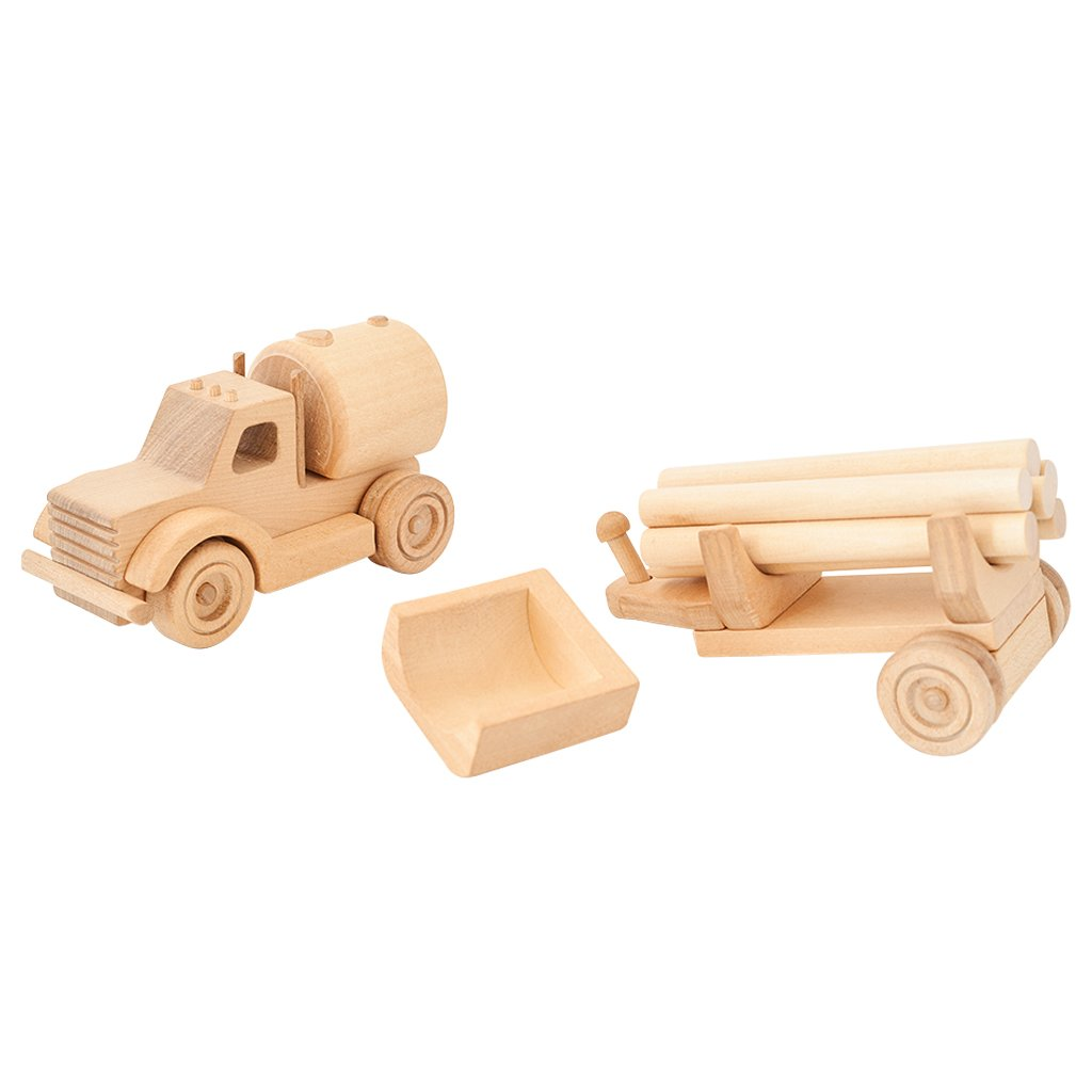Kubi Dubi wooden truck set called Willy with tank attached