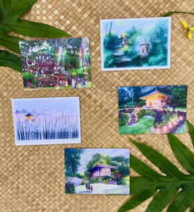 Hawaii Artists Note Cards Set of 5