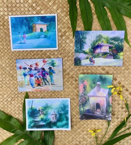 Kauai Watercolor Artist Molly McKenzie Note Cards Set of 5