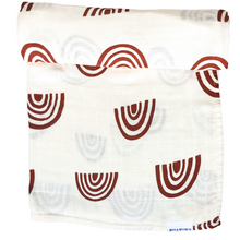 Load image into Gallery viewer, Organic Cotton & Bamboo Swaddle - Sunburnt Rainbows