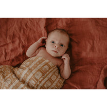 Load image into Gallery viewer, Organic Cotton & Bamboo Swaddle - Owl Brown