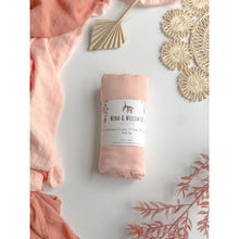 Load image into Gallery viewer, Organic Cotton & Bamboo Swaddle - Blush Pink