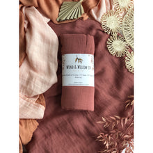 Load image into Gallery viewer, Organic Cotton & Bamboo Swaddle - Plum