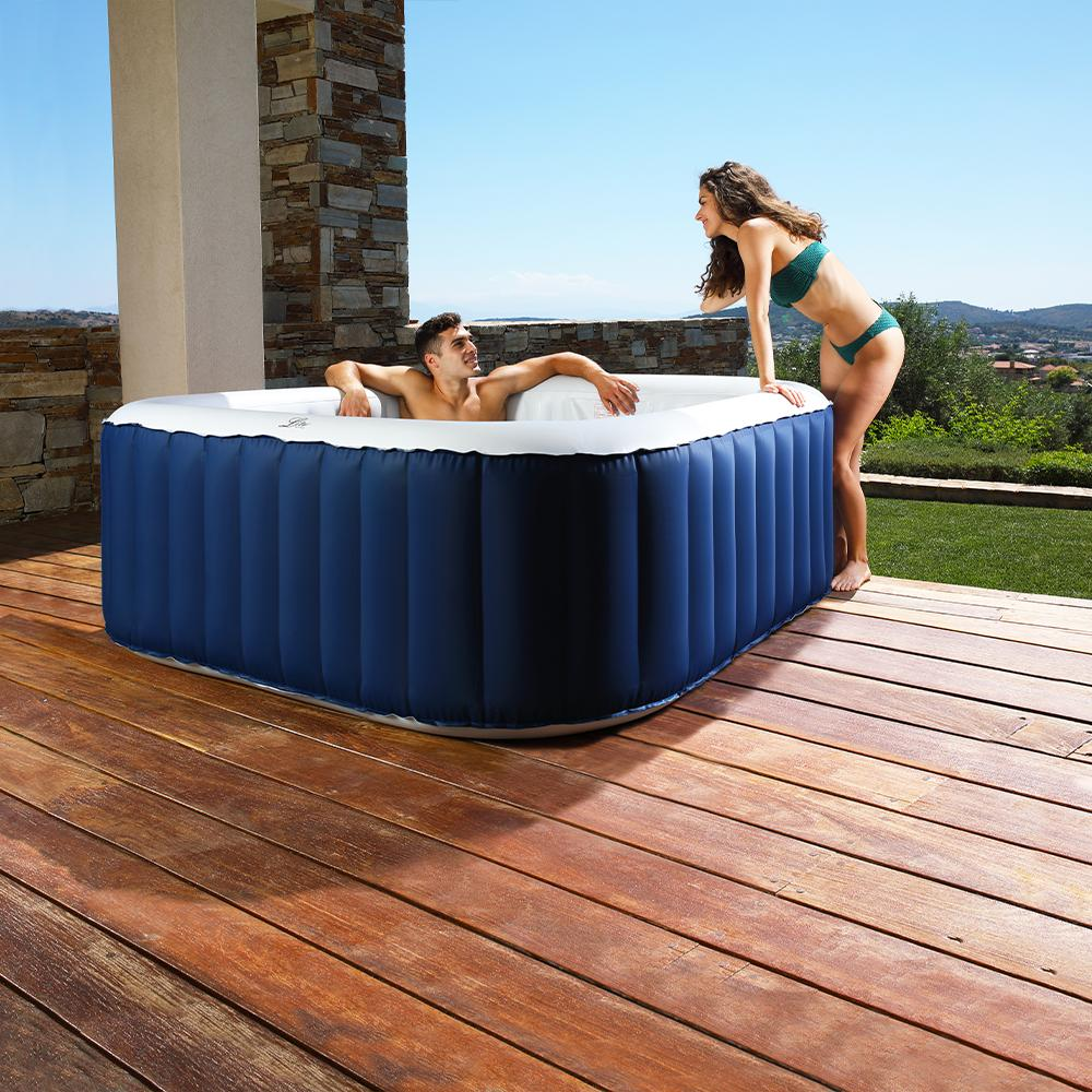Spa gonflable jacuzzi carré bleu LS04-NA 4 places Mspa