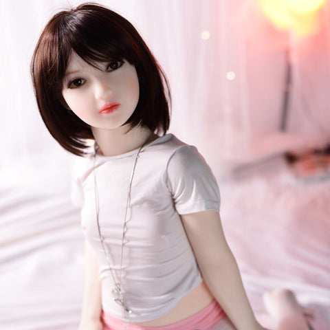 HD12-122cm lifelike flat chest TPE sex doll for male
