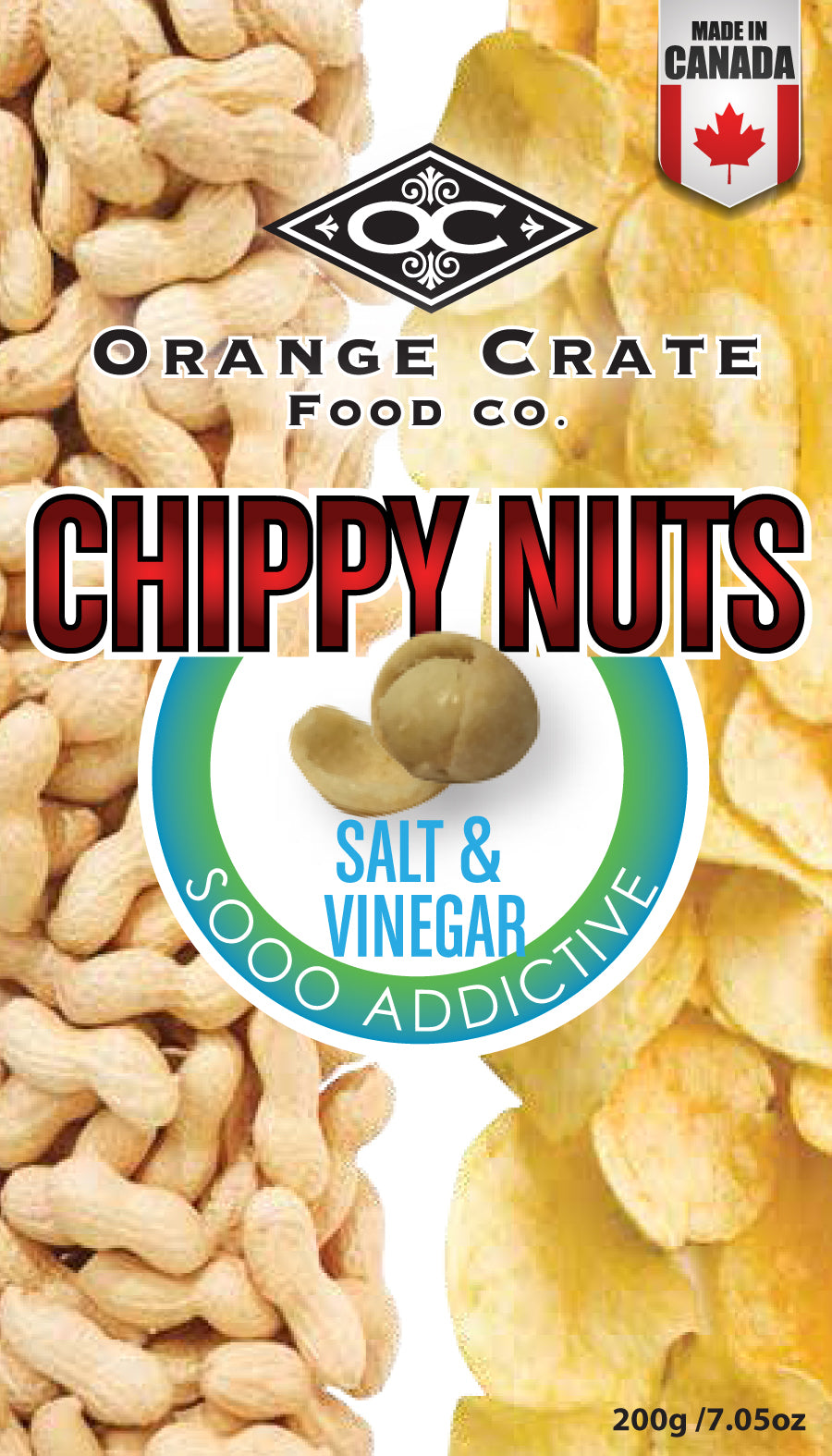 Salt and Vinegar Chippy Nuts - 200 gram bag
