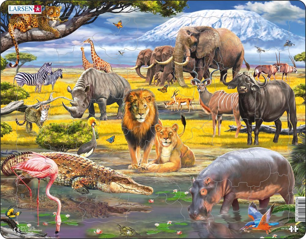 43 Piece Puzzle - Savanna