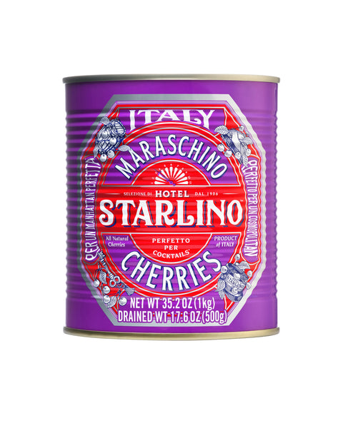 Hotel Starlino Maraschino Cherries Tin 1kg