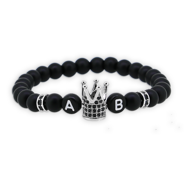 1 x Black Crown Silver Armband