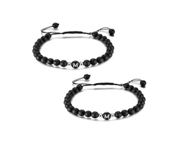 2 x Black Edition Partnerarmband Schnur