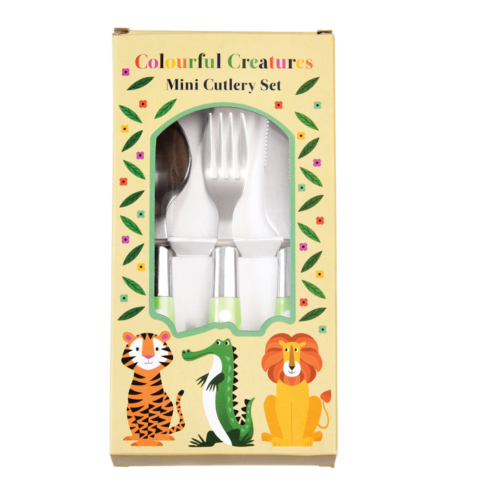 Colourful Creatures Cutlery Set