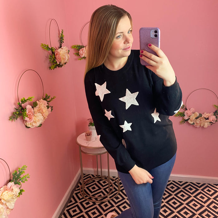 Monochrome Star Jumper