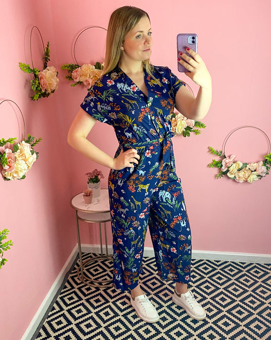 Button Down Safari Jumpsuit