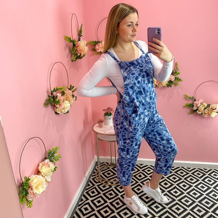 Denim Blue Splash Jumping Jersey Dungarees