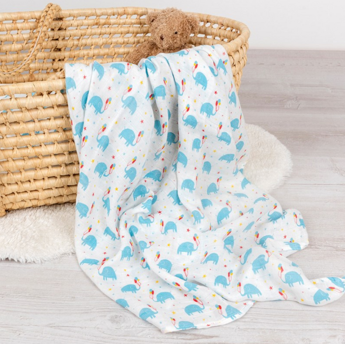 Elephant Party Swaddle blanket