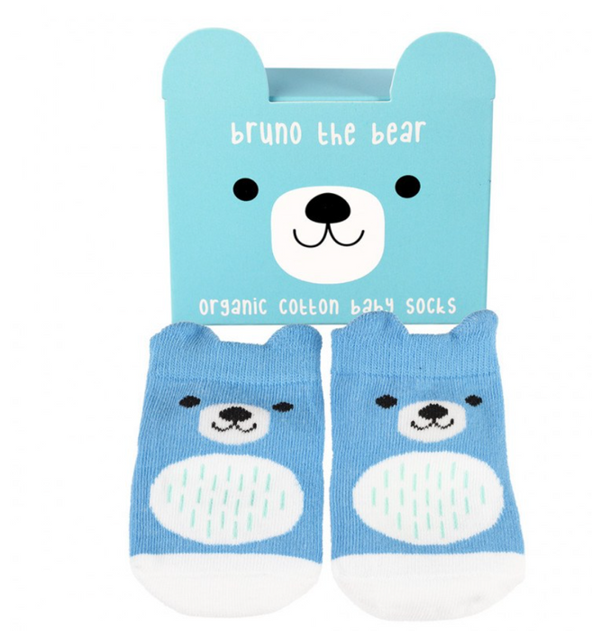 Bruno The Bear Baby Socks