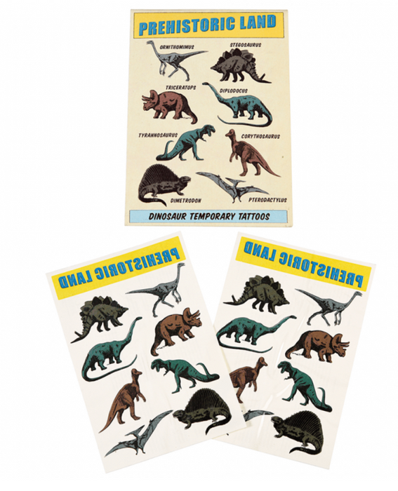 Dinosaur Temporary Tattoos (2 Sheets)