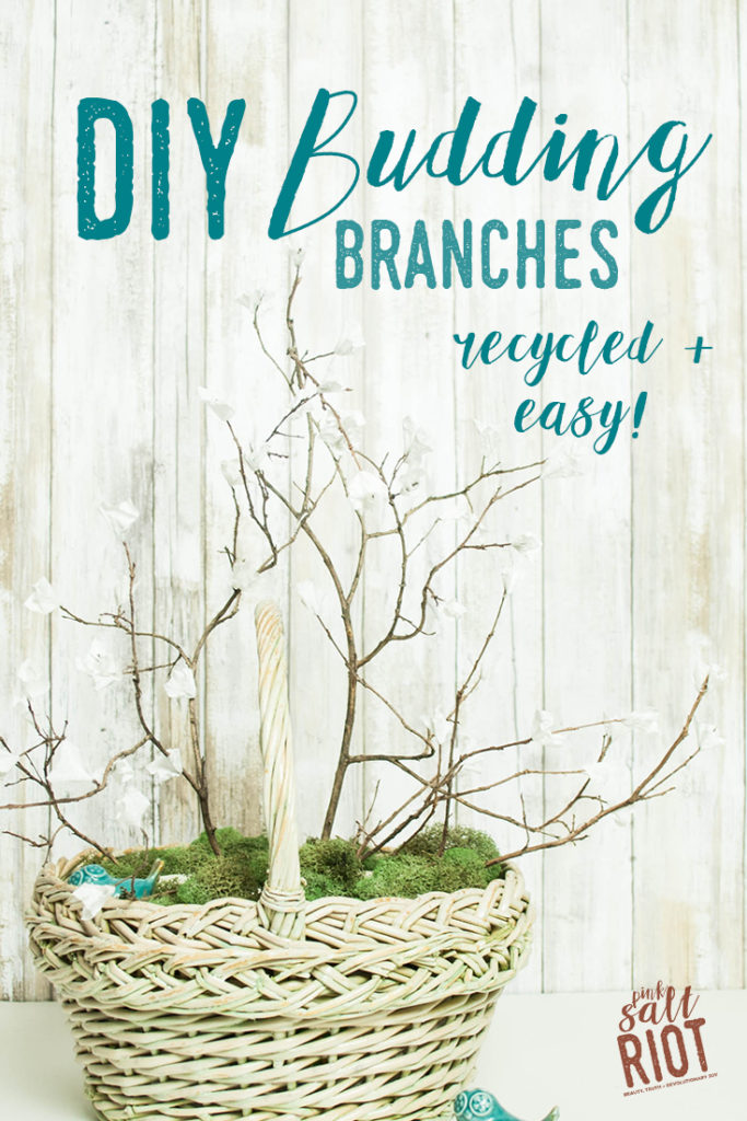 Pink Salt Riot Blog // DIY Budding Branches - free, recycled + easy!