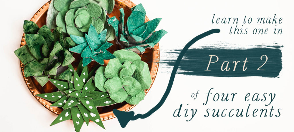Pink Salt Riot Blog // The Best (and Easiest!) DIY Succulents - Part 2, From The Simplest of Recycled Materials