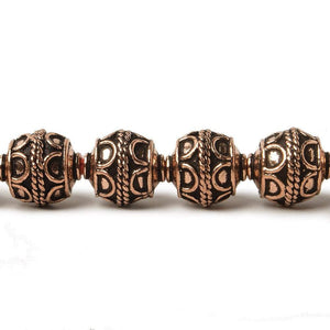 10mm Antiqued Copper Beads Roval Simple Arch 8 inch 18 pcs - Beadsofcambay.com
