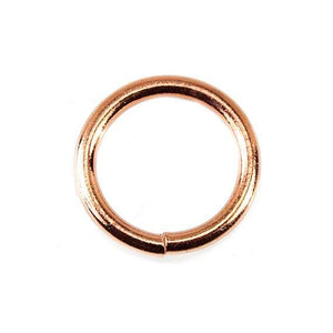 10mm Copper Jump Ring 50 pieces - Beadsofcambay.com