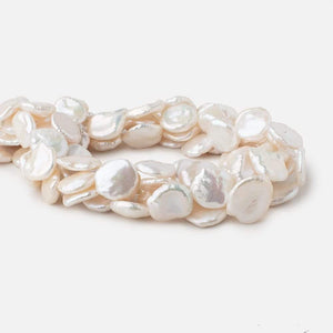 14x15-18x15mm Cream Keshi Freshwater Pearls 16 inch 25 pieces - Beadsofcambay.com