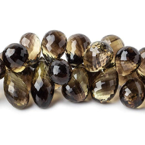 14x7-18x10mm Bi-Colored Quartz Faceted Tear Drop Briolettes 9 inches 60 beads AAA - Beadsofcambay.com