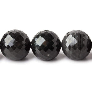 15-17mm Rainbow Obsidian faceted round beads 18 inches 29 pieces - Beadsofcambay.com