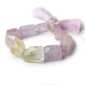 20x17-25x18mm Spodumene Kunzite angular faceted nuggets 8 inches 10 beads - Beadsofcambay.com