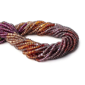 3-3.5mm Multi Gemstone Plain Rondelle Beads 13.5 inch 160 pieces - Beadsofcambay.com