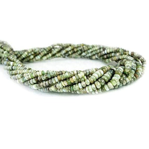 3-5mm Cat's Eye Chrysoberyl Plain Rondelle Beads 18 inch 254 pieces - Beadsofcambay.com