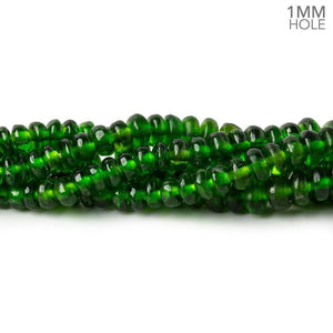 3-5mm Chrome Diopside plain rondelle beads 17 inch 215 pieces 1mm large hole AA - Beadsofcambay.com