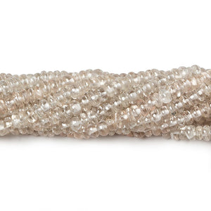 3mm Champagne Zircon Plain Rondelle 14 inch 182 pieces - Beadsofcambay.com