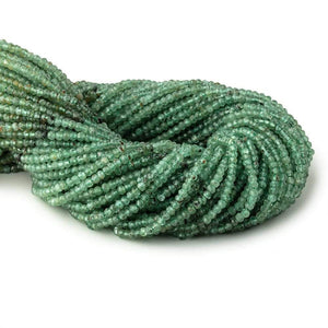 3mm Green Kyanite Micro Faceted Rondelle Beads 12.5 inch 138 pieces - Beadsofcambay.com