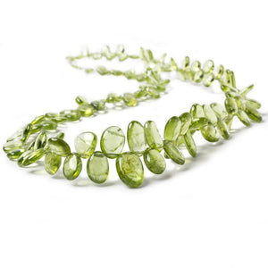4-12mm Peridot Top Drill Plain Slice 17 inch 115 pieces - Beadsofcambay.com