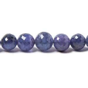 4-9mm Tanzanite Faceted Round Beads AA Grade 16 inch 60 pieces - Beadsofcambay.com