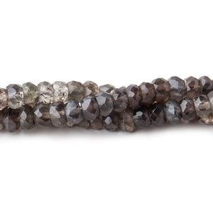 4.5mm Multi Color Cat's Eye Scapolite Faceted Rondelle Beads 16 inch 146 pieces - Beadsofcambay.com