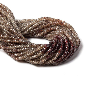 4mm Multi Color Zircon Faceted Rondelle Beads 12 inch 155 pieces - Beadsofcambay.com