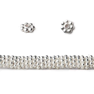 4mm Sterling Silver Plated Copper Daisy Spacer 8 inch 155 pcs - Beadsofcambay.com