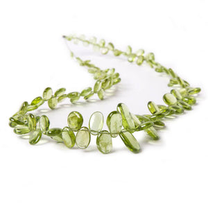 4x3-13.5x7mm Peridot Plain Freeshape Beads 16 inch 110 pieces - Beadsofcambay.com