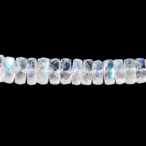 5-7mm Rainbow Moonstone Faceted Heshi Beads 10 inch 98 pieces AAA - Beadsofcambay.com