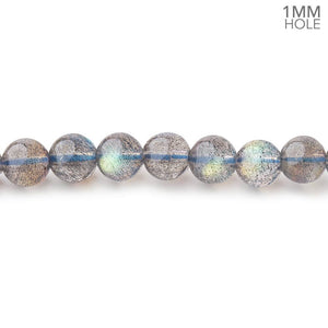 5.5mm Labradorite Plain Round Beads 28 inch 136 pieces 1mm hole - Beadsofcambay.com