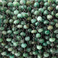 Gemstone Beads with .925 Silver Chain
