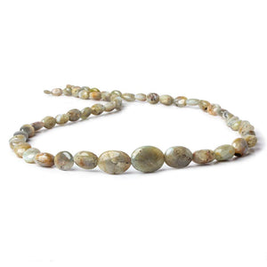 5x4-14x10mm Cat's Eye Chrysoberyl plain nugget beads 18 inch 54 pieces - Beadsofcambay.com