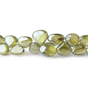 6-7mm Mystic Prehnite Plain Heart Beads 8 inch 58 pieces - Beadsofcambay.com