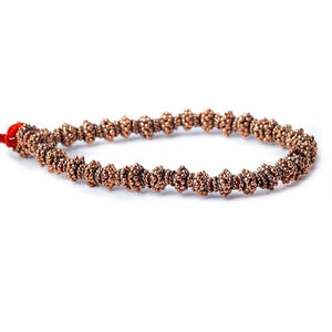 7mm Copper Bead Caps Bali Style 8 inch 68 pcs - Beadsofcambay.com