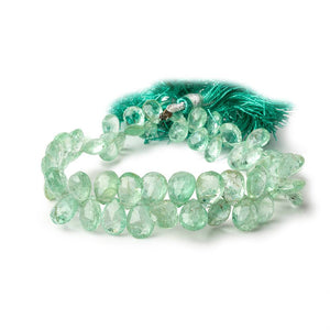 7x5-11x7mm Colombian Emerald faceted pear beads 7.75 inch 60 pieces AA - Beadsofcambay.com