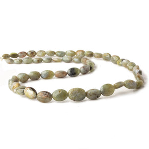 7x5-12x9mm Cat's Eye Chrysoberyl plain nugget beads 18 inch 49 pieces - Beadsofcambay.com