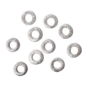 8mm .925 Silver brushed Jump Ring Set of 10 pieces - Beadsofcambay.com