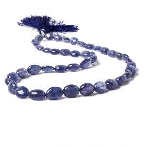 8x7-11x9mm Tanzanite unfaceted nugget beads 17 inch 43 pieces AA Grade - Beadsofcambay.com